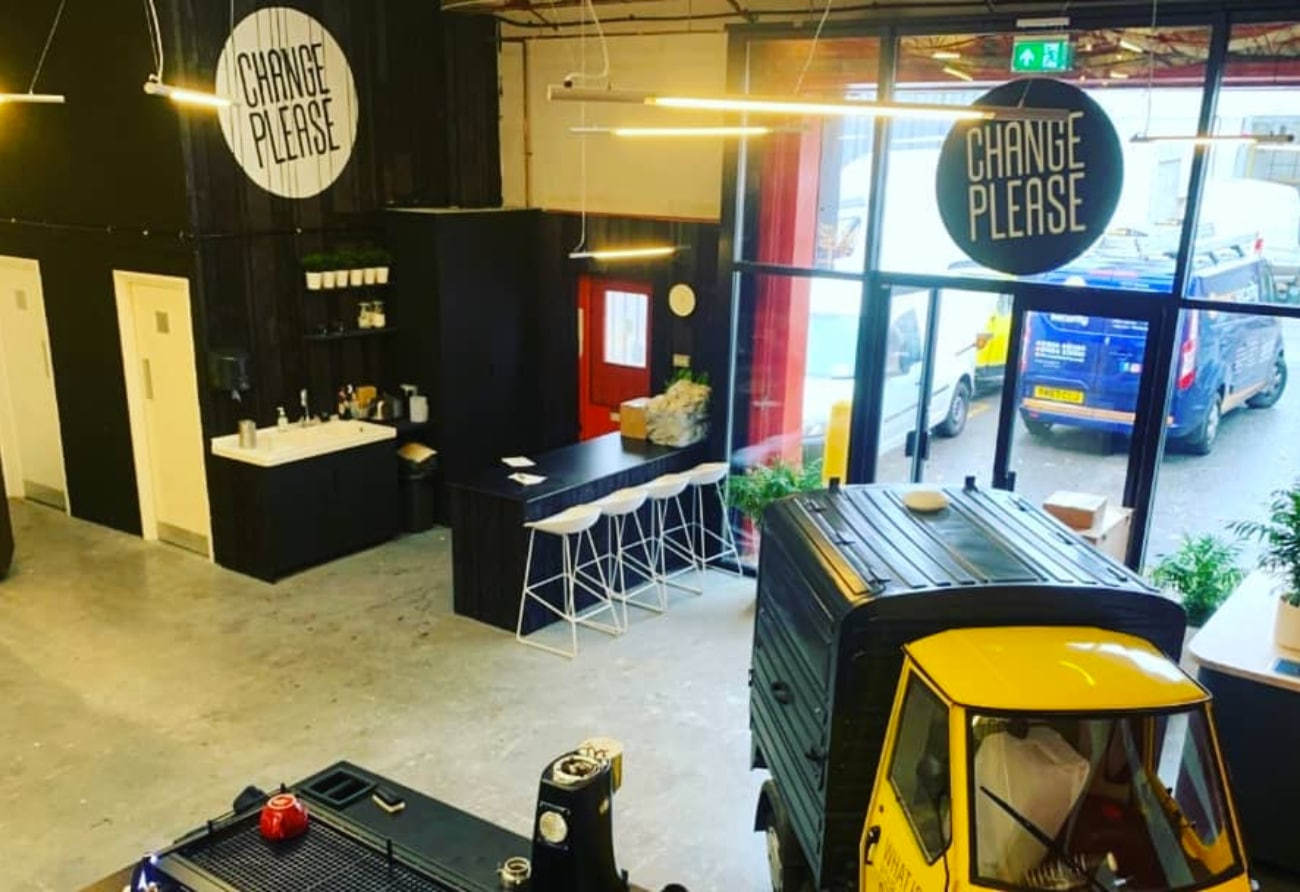 Seen Security were proud to work with @changeplease to make a difference with this training facility for teaching the homeless how to make coffee